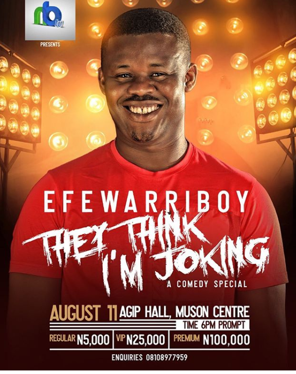 "SoundSultan will be hosting ""They Think I'm Joking"" show as a comedian! – EFE WARRIBOY"