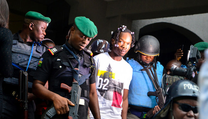Naira Marley Released On Bail, Walks The Streets Of Lagos A Free Man