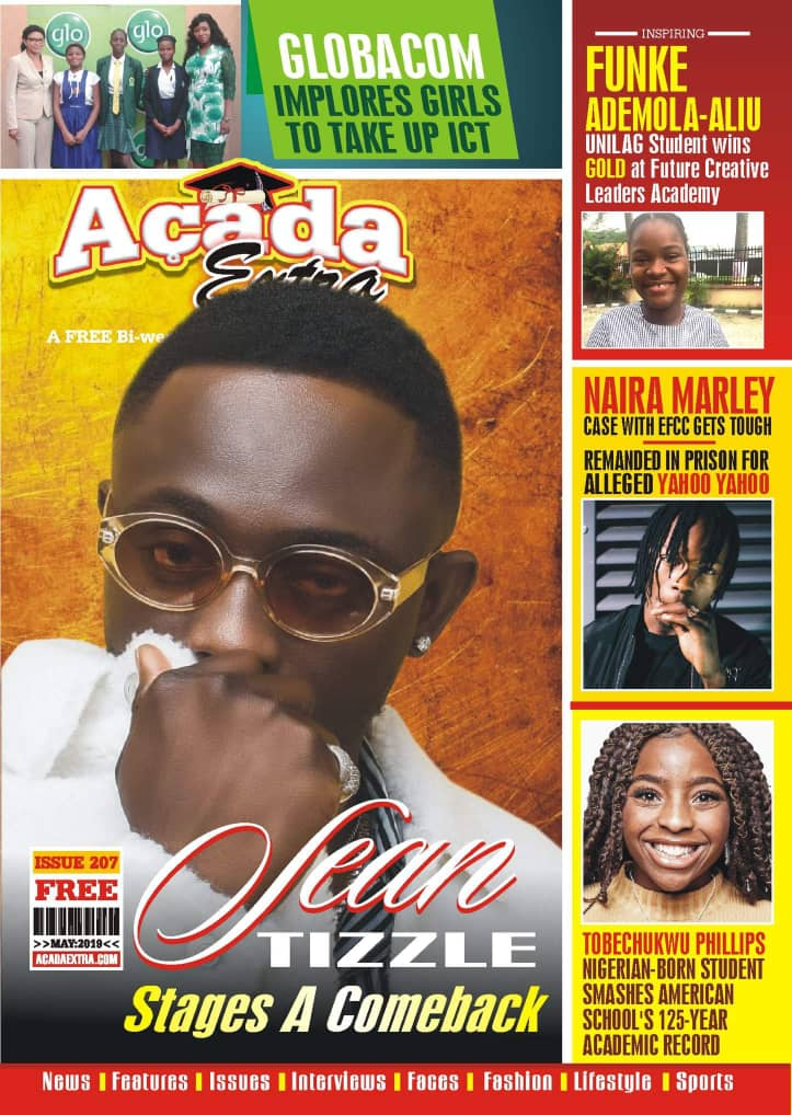 SEAN TIZZLE GRACES THE COVER OF ACADA YOUTH CAMPUS MAGAZINE