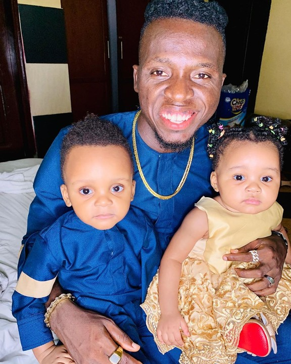This Adorable Photo Of Akpororo and His Twins Will Melt Your Heart