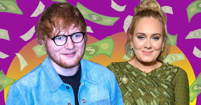 Ed Sheeran beats Adele in Rich List as he doubles his wealth in just a year