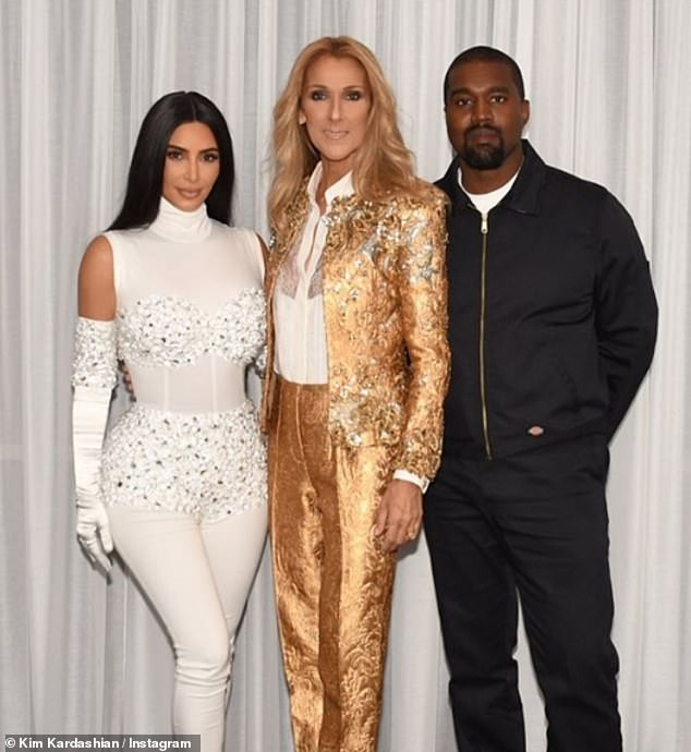 Kim Kardashian Excited As Husband Kanye West Takes Her On A Surprise Date To Celine Dion's Concert