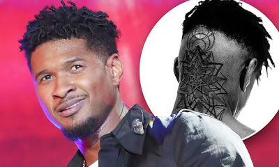 Usher debuts huge new tattoo on the back of his head