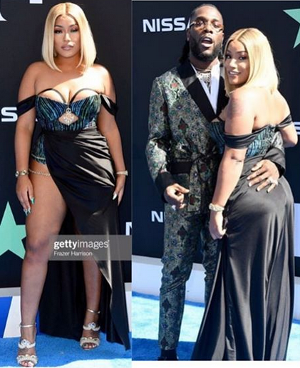 Burna Boy and Girlfriend, Stefflon Don step out in style at the 2019 BET Awards