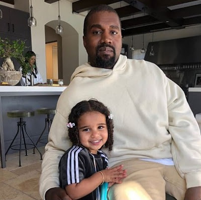 Kanye West snuggles up next to Dream Kardashian in what her father Rob calls the 'best picture ever'