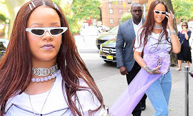 Rihanna channels her inner fairy princess as she arrives to her goddaughter Majesty's 5th birthday