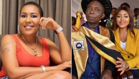 Ned Nwoko's alleged son says Shan George has been begging him for his dad's number