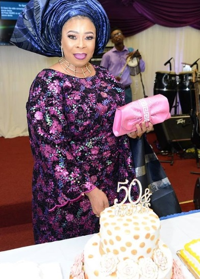 Photos from Toyin Adewale's 50th birthday thanksgiving service in church