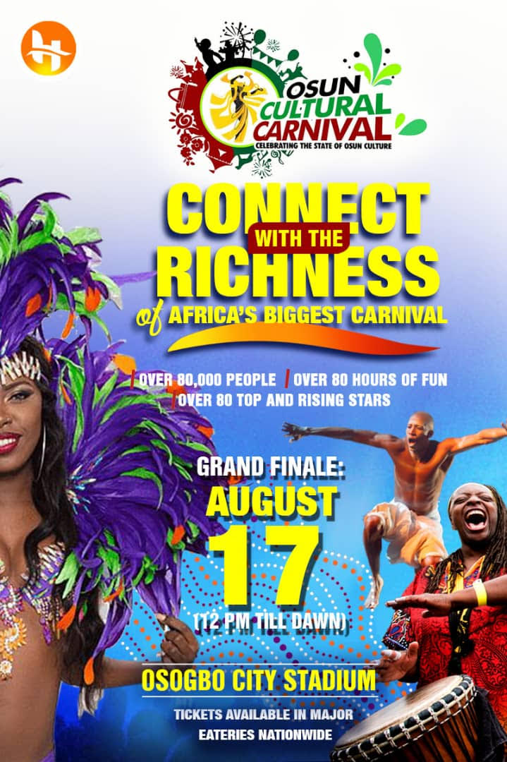 OSUN CULTURAL CARNIVAL:  The State of Osun to Host the World in August