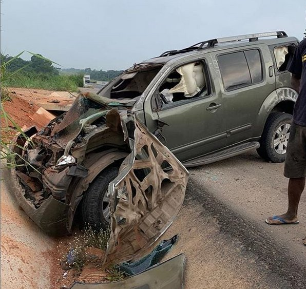 Yul Edochie survives auto accident which nearly claimed his life (photo)