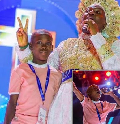 Young boy who went viral singing Tope Alabi's song looks totally different (photos)