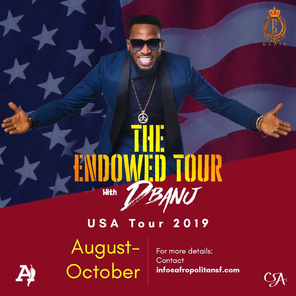 "D'banj Announces ""The Endowed Tour"" USA 2019!"