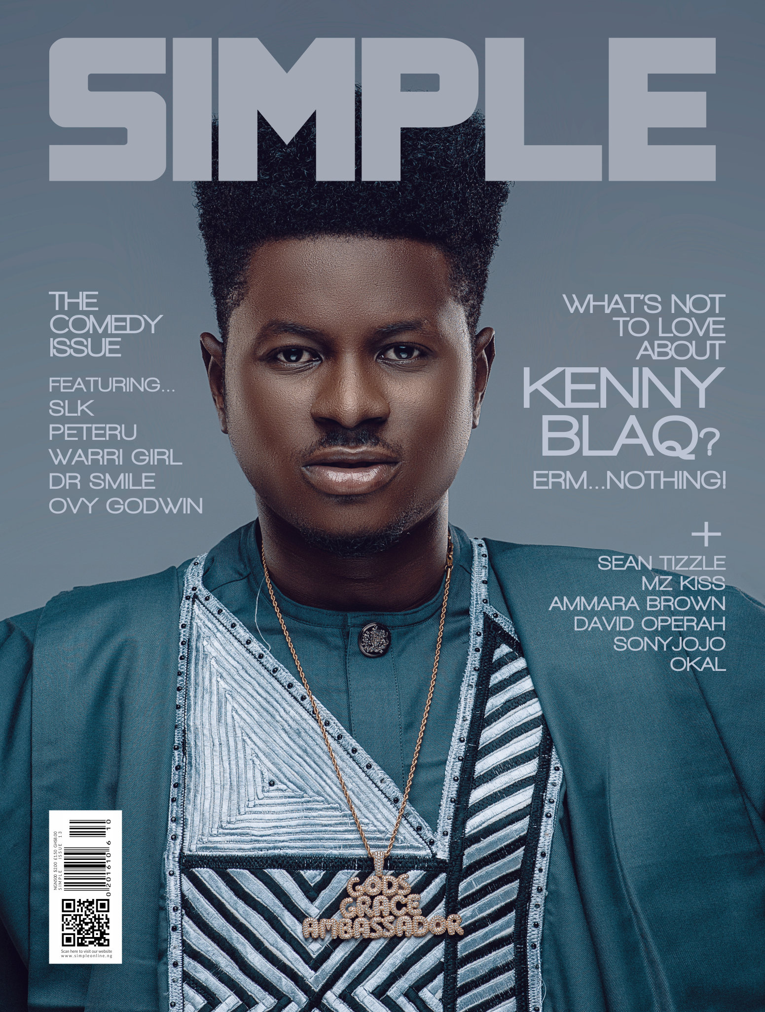 KENNYBLAQ COVERS THE FRONT PAGE OF 'SIMPLE MAGAZINE'S LATEST ISSUE