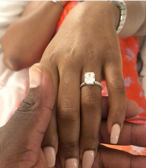 Photos/Video: Check out the Diamond ring Davido's brother, Wale Adeleke used to propose to his girlfriend