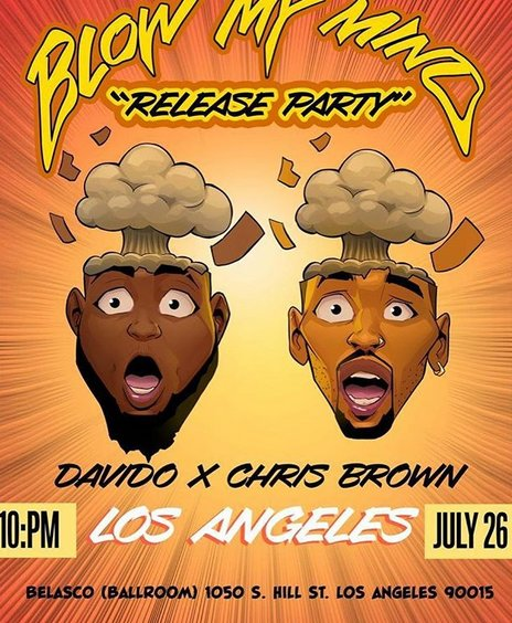 Davido stages 'blow your mind' release party this friday in Los Angeles and on sunday in London