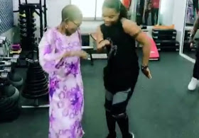 Kaffy and her 82-year old mom show their dance moves
