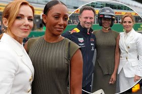 Mel B hangs out with Geri Horner & husband proving they are still as close as ever despite lesbian scandal