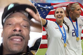 Snoop Dogg demands equal pay for female footballers in US after World Cup win