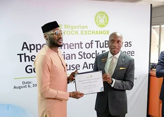 2Face Becomes Brand Ambassador to Nigerian Stock Exchange