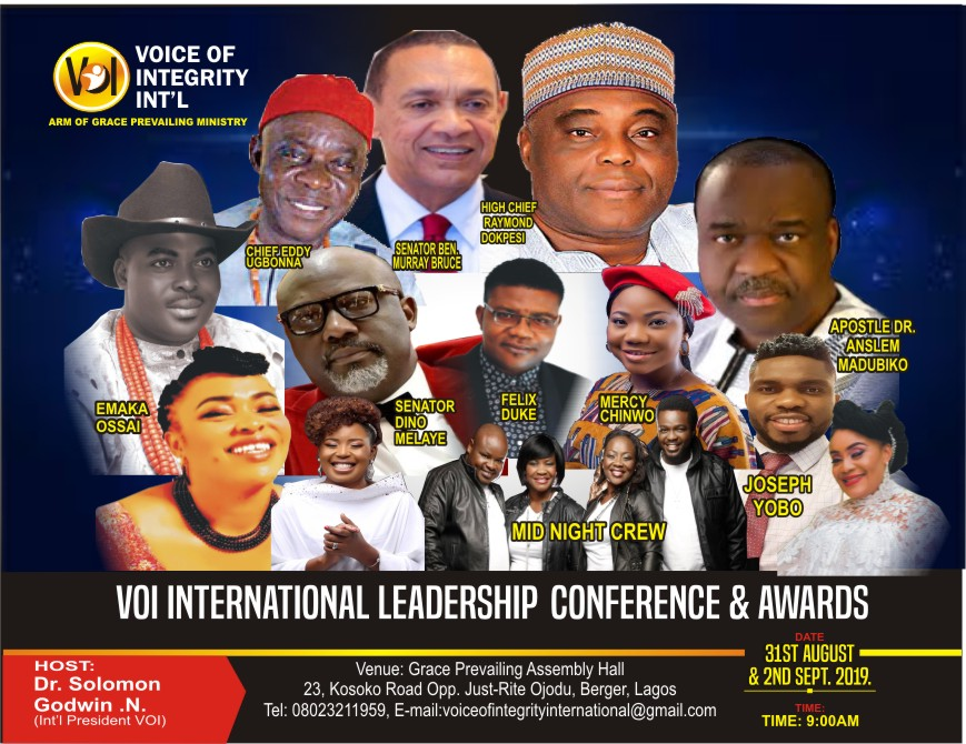 Events: VOICE OF INTEGRITY INTERNATIONAL LEADERSHIP CONFERENCE AND AWARDS