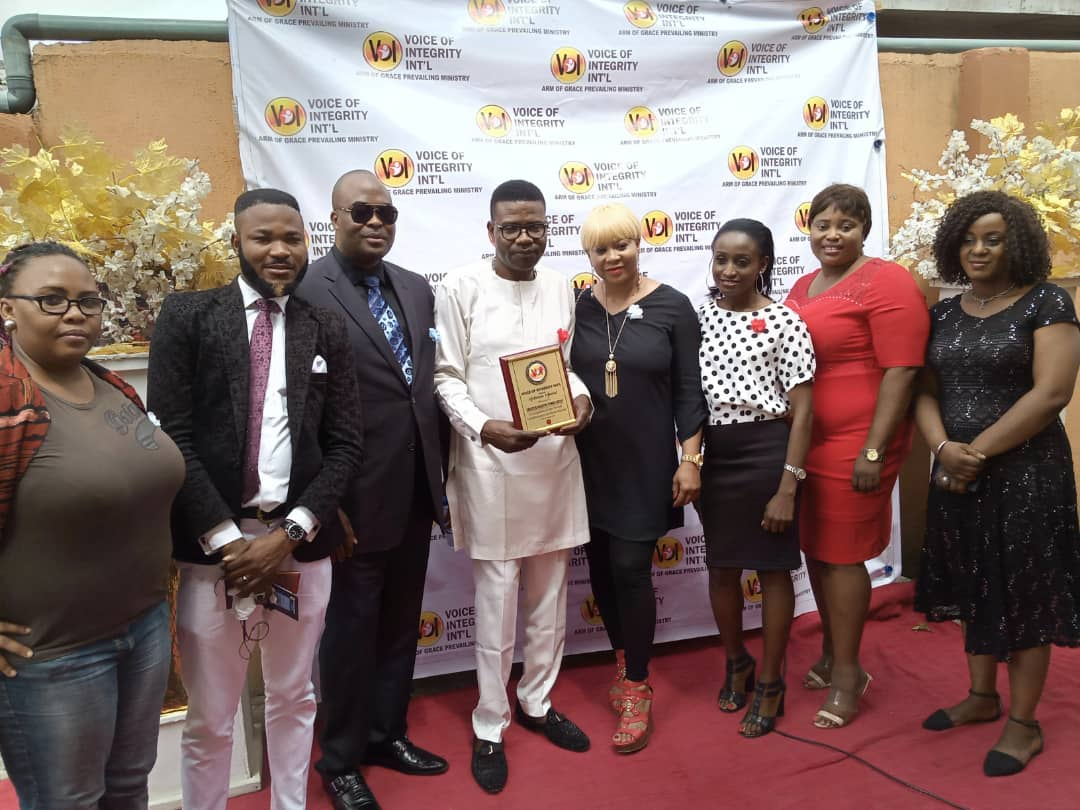 Creative Industry Group awarded for the Voice of Integrity Achievement Award.
