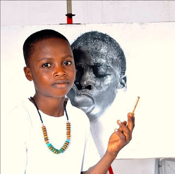 11-Year Old Nigerian Artist Kareem Waris beats 2,723 Candidates worldwide to Win Top Taiwanese Award