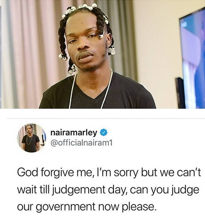 Naira Marley begs God to judge our Government now