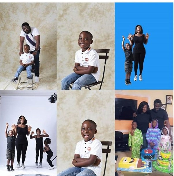 Mercy Johnson celebrates son Henry as he marks his 5th birthday