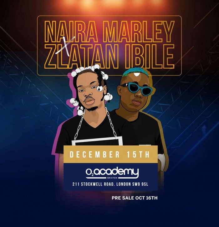 Naira Marley & Zlatan Set To Headline Their First Show At O2 In London