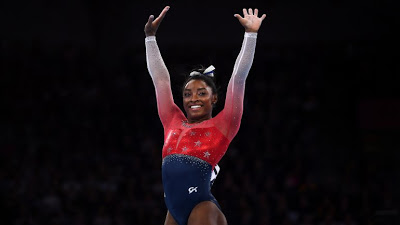 Simone Biles becomes most decorated woman in world gymnastics championships history