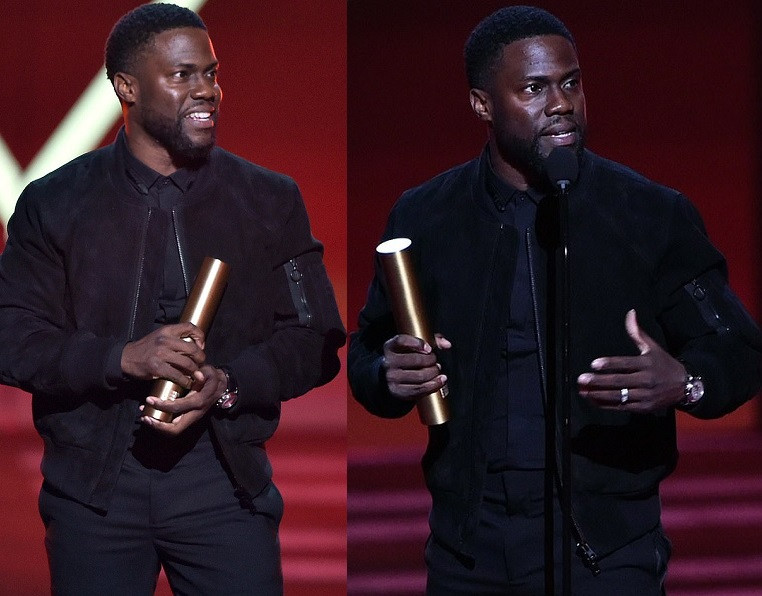 Kevin Hart makes first official appearance since car crash at People's Choice Awards (Photos)