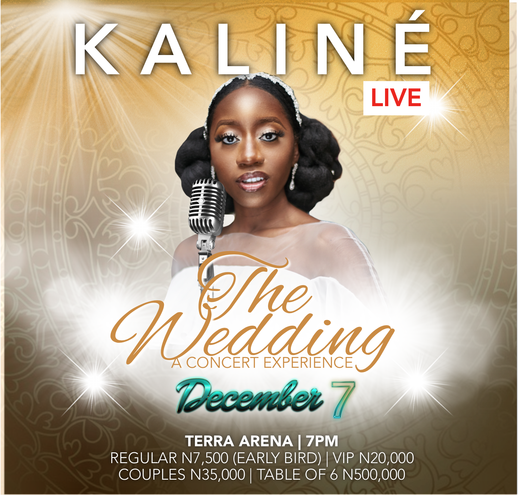 Kaline Live to host the city of Lagos to a one of a kind musical concert tagged ''The Wedding""