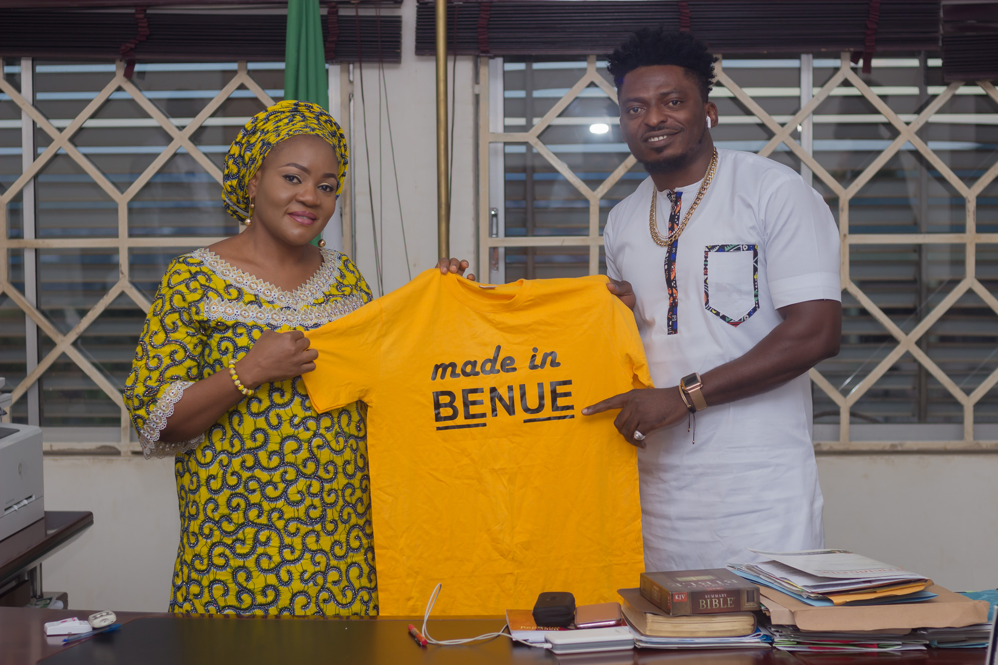 OD WOODS PAYS COURTESY VISIT TO WIFE OF GOVERNOR OF BENUE STATE AHEAD OF MADE IN BENUE #ThePowerofUs ALL WHITE PARTY 2019