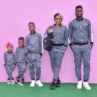 Adaeze and Joseph Yobo step out with their children in matching outfit (photos)