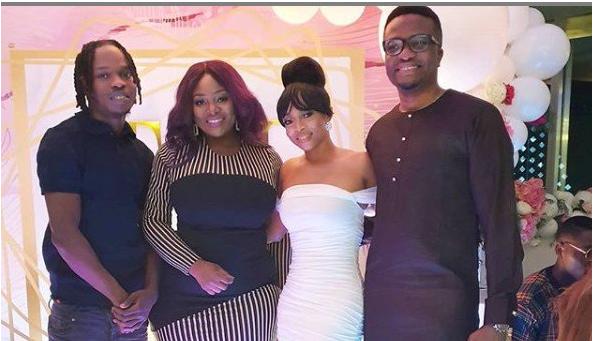 Naira Marley surprises Toke Makinwa at her birthday party