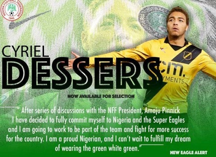 NFF welcomes Belgian born striker Cyriel Dessers