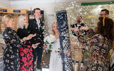 Single mum marries her RUG in lavish ceremony surrounded by friends (photos)