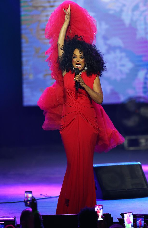 Diana Ross looks Supreme in red as she headlines World Aids Day concert in Texas