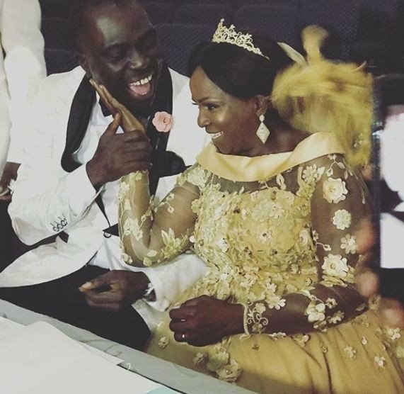 Simi's mum celebrates second wedding anniversary with husband (photos)