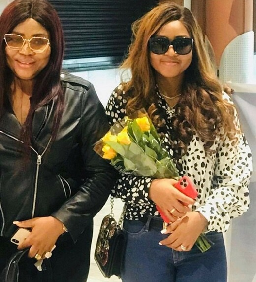Regina Daniels and mum arrive Cape Town to support Ned Nwoko on his malaria fight
