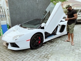 Peter Okoye reminds fans of his N142m Lamborghini Aventador sports car
