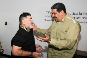 Diego Maradona gets red carpet reception in Venezuela