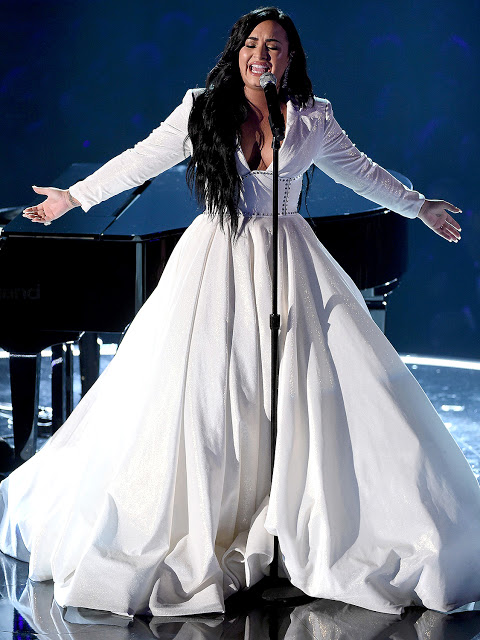 Demi Lovato sang the National Anthem at Super Bowl