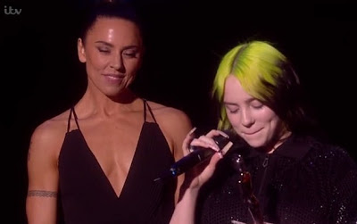 Emotional Billie Eilish breaks down as she wins Best International Female Artist at the BRIT Awards