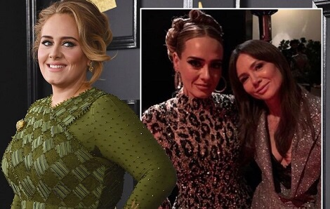 Adele shows off her incredible seven stone weight loss at Jay Z and Beyonce's Oscars party