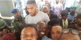 Anthony Joshua is in Nigeria again, visits Sagamu