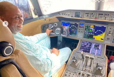 Video: Davido's dad, Adedeji Adeleke buys $62m private jet