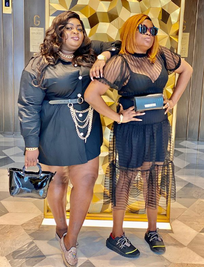 Eniola Badmus and Funke Akindele continue their friendship in Dubai (photos/video)
