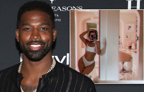 Khloe Kardashian's cheating ex Tristan drools over her racy underwear selfie