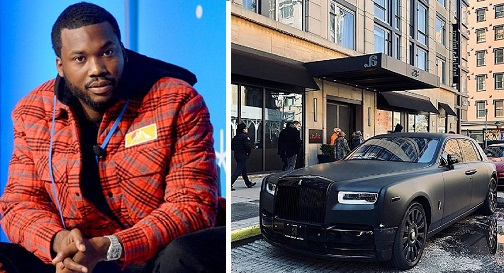 Meek Mill donates his prized Rolls Royce Phantom for COVID-19 fundraiser (videos)